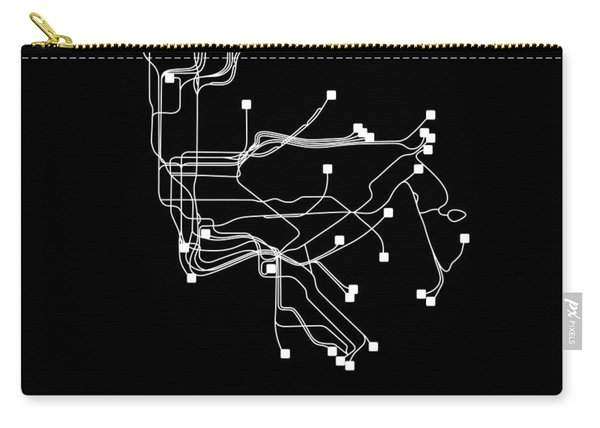 New York Square Subway Map  Carry-all Pouch