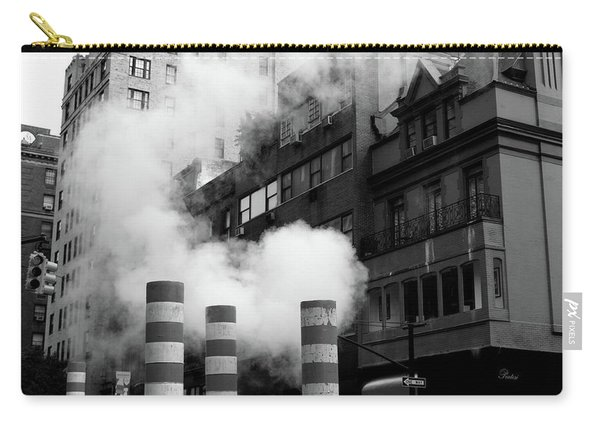 Carry-all Pouch featuring the photograph New York, Steam by Edward Lee