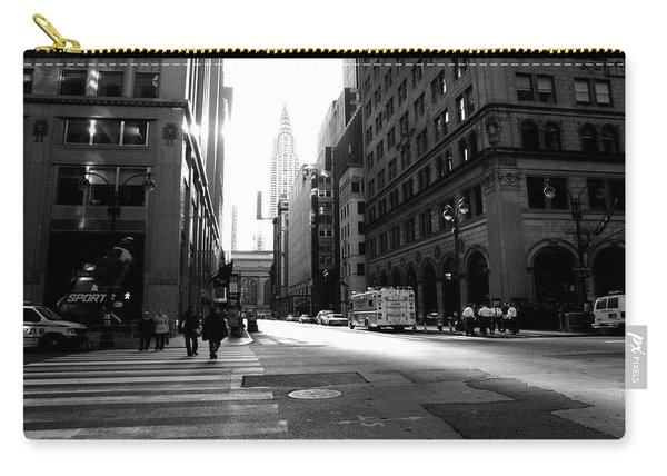 Carry-all Pouch featuring the photograph New York, Street by Edward Lee