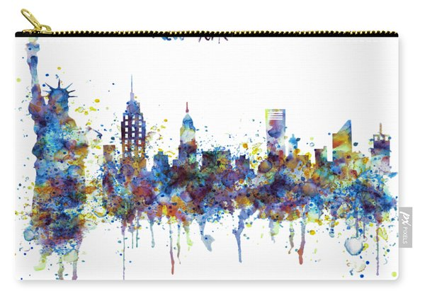 New York Watercolor Skyline Carry-all Pouch