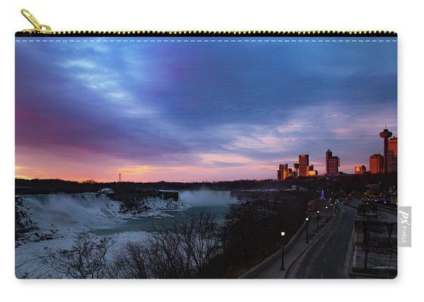 Niagara Falls At Sunrise Carry-all Pouch