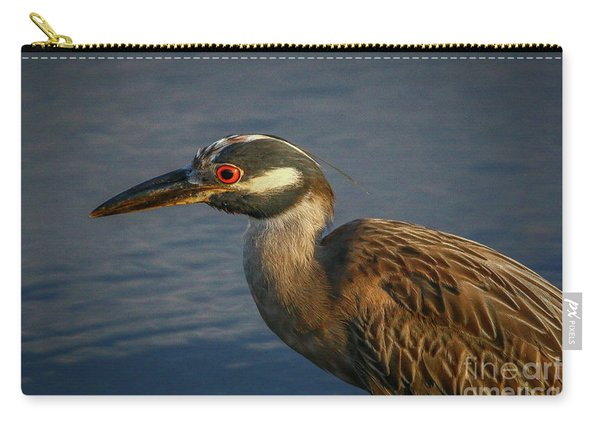 Carry-all Pouch featuring the photograph Night Heron Portrait by Tom Claud