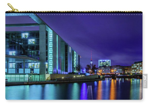 Carry-all Pouch featuring the photograph Night In Berlin by Dmytro Korol