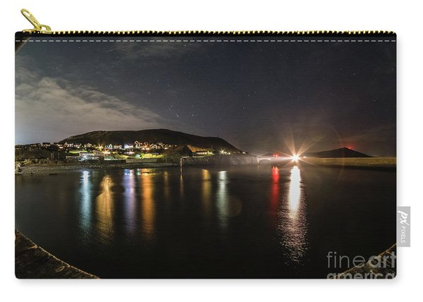 Night Sky Over Aberystwyth Harbour Carry-all Pouch