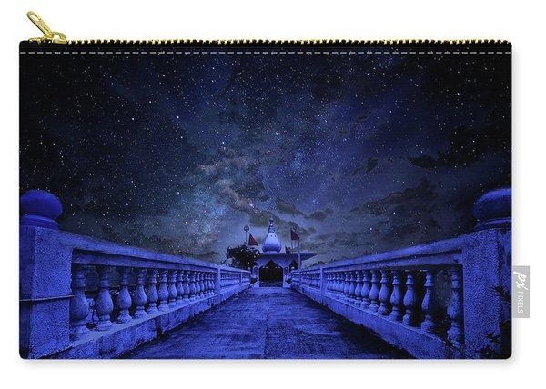 Night Sky Over The Temple Carry-all Pouch