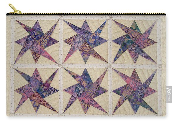 Nine Stars Dipping Their Toes In The Sea Sending Ripples To The Shore Carry-all Pouch