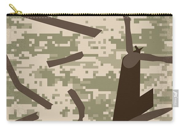 No1076 My Black Hawk Down Minimal Movie Poster Carry-all Pouch