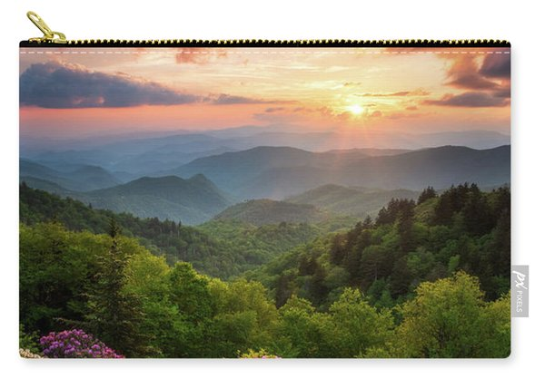 North Carolina Great Smoky Mountains Sunset Landscape Cherokee Nc Carry-all Pouch