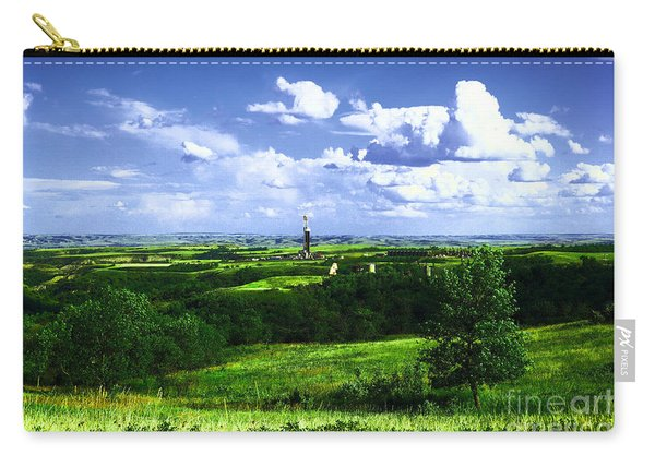 North Dakota Landscape And An Oil Rig Carry-all Pouch
