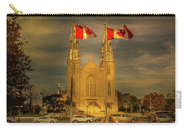 Carry-all Pouch featuring the photograph Notre Dame Basilica by Juan Contreras