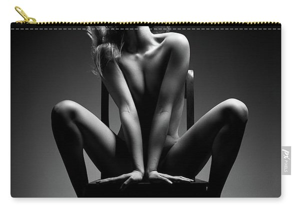 Nude Woman Sitting On Chair Carry-all Pouch