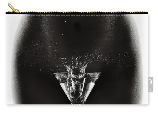Nude Woman With Martini Splash Carry-all Pouch