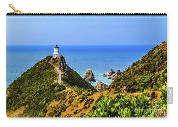 Nugget Point Lighthouse, New Zealand Carry-all Pouch
