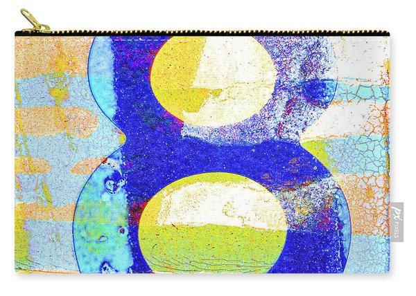 Number 8 In Yellow And Blue Carry-all Pouch