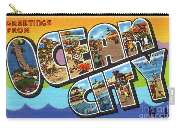 Ocean City Greetings Carry-all Pouch