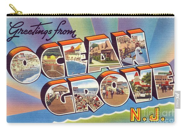 Ocean Grove Greetings Carry-all Pouch