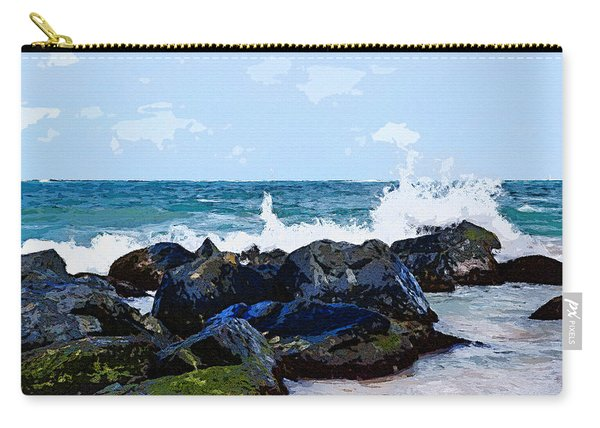 Ocean Meets The Coast Carry-all Pouch