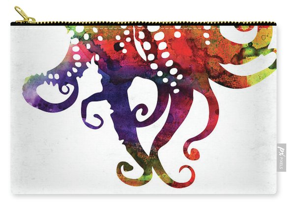 Octopus Tentacles Colorful Watercolor Carry-all Pouch