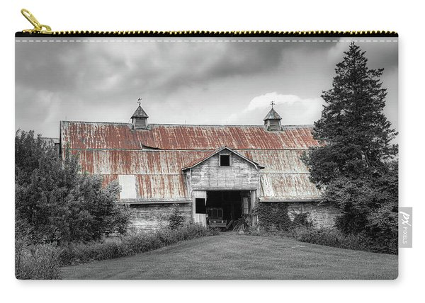 Ohio Barn In Black And White Carry-all Pouch