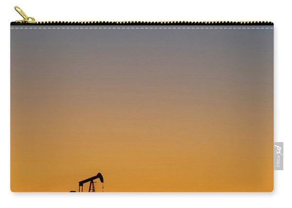 Carry-all Pouch featuring the photograph Oil Pump After Sunset 02 by Rob Graham