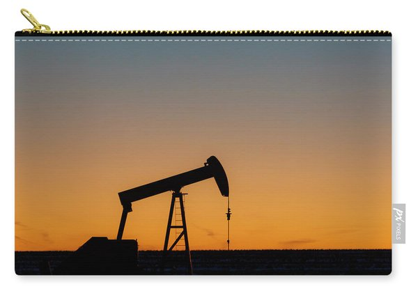 Carry-all Pouch featuring the photograph Oil Pump After Sunset 03 by Rob Graham