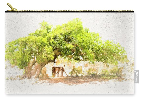 Old Leaning Tree At Sandy Hill  Anguilla Carry-all Pouch