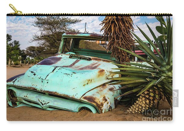Old And Abandoned Car 2 In Solitaire, Namibia Carry-all Pouch