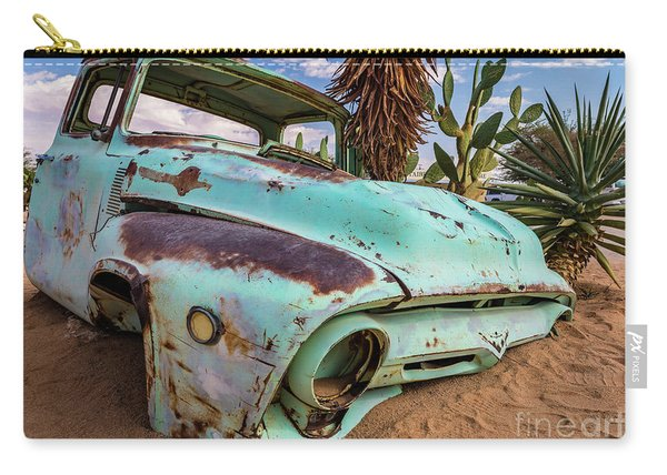 Old And Abandoned Car 7 In Solitaire, Namibia Carry-all Pouch