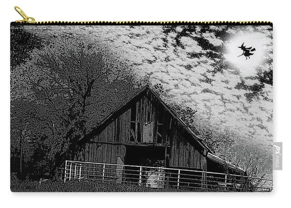 Old Barn Witch On A Broom In The Moon Carry-all Pouch