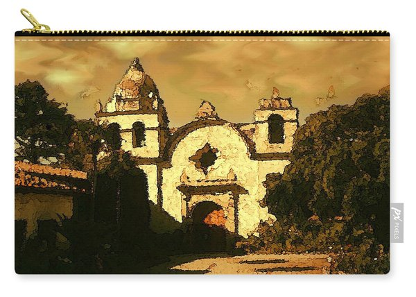 Old Carmel Mission - Watercolor Painting Carry-all Pouch