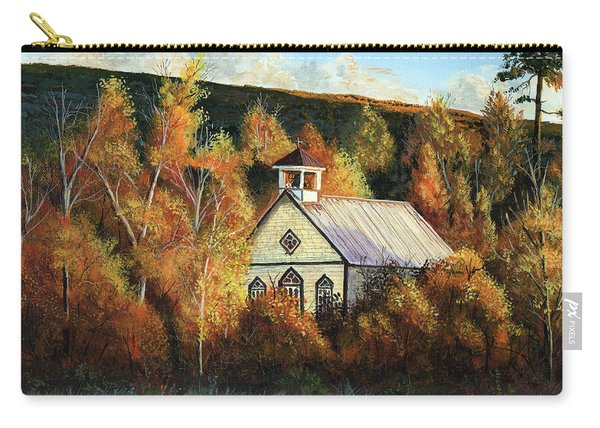 Old Church In Autumn Carry-all Pouch