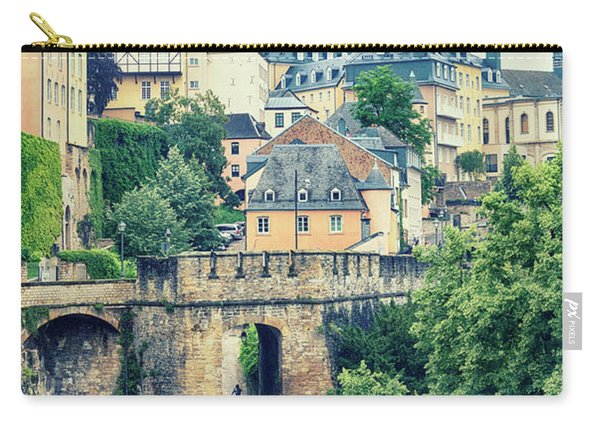 old city Luxembourg from above Carry-all Pouch