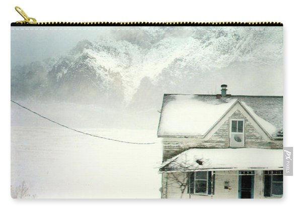 Old Clapboard House In Snow Carry-all Pouch