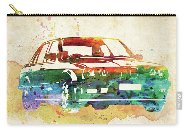 Old Ford Mustang Watercolor,  Carry-all Pouch