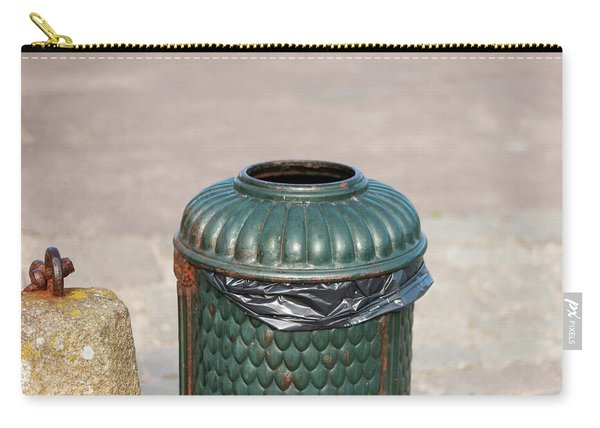 Old Green, Rusty Dustbin On A Street Carry-all Pouch