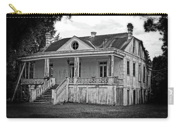 Old House Black And White Carry-all Pouch