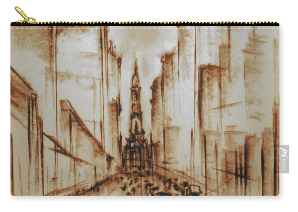 Old Philadelphia City Hall 1920 - Pencil Drawing Carry-all Pouch