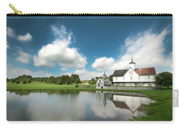 Old Star Barn And Pond Reflection Carry-all Pouch