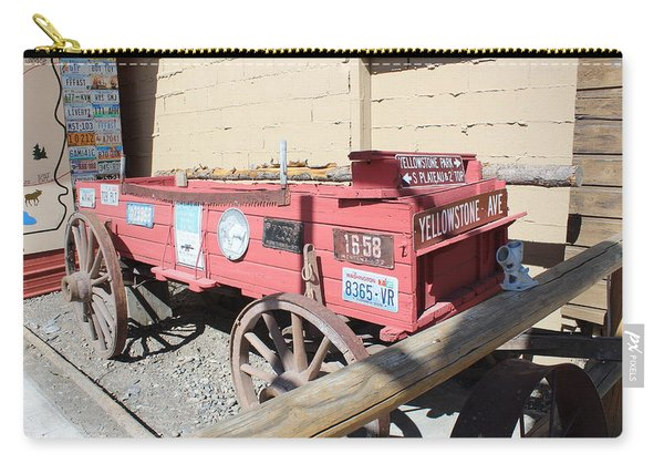 Old Wagon- Yellow Stone Carry-all Pouch