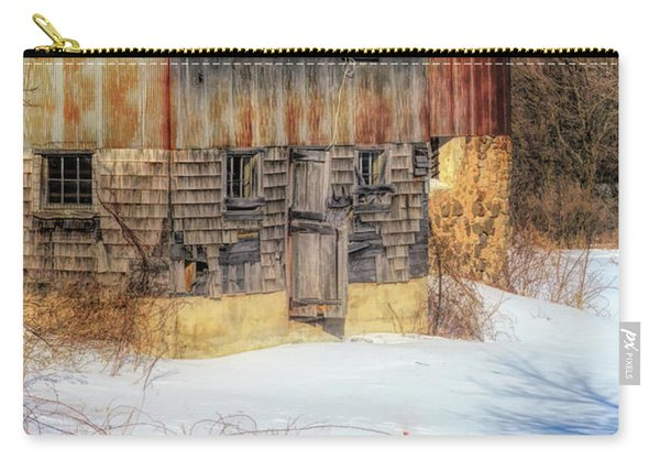 Old Wisconsin Barn In Winter Carry-all Pouch