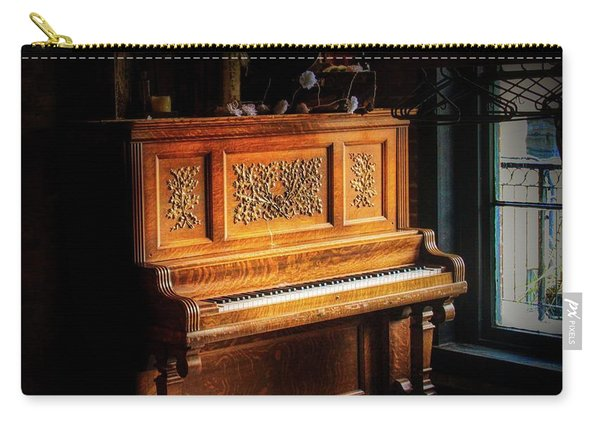 Old Wooden Piano Carry-all Pouch