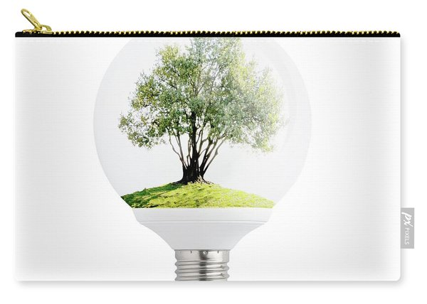 Olive Tree In Light Bulb. Carry-all Pouch
