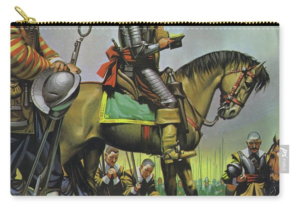 Oliver Cromwell Praying With His Troops Before Battle Carry-all Pouch