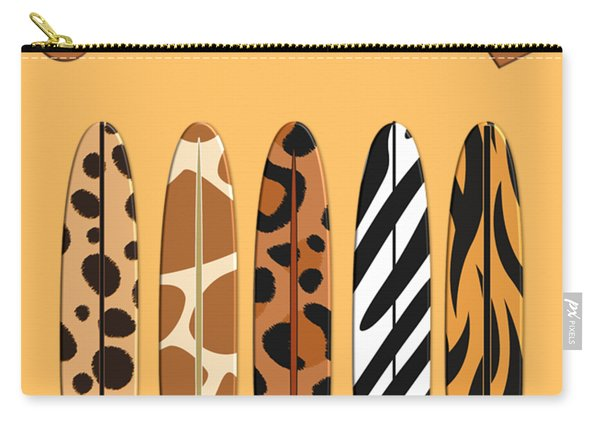 On Surfari Animal Print Surfboards  Carry-all Pouch