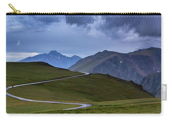 Carry-all Pouch featuring the photograph On Top Of The World by John De Bord