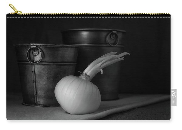 Onion In Black And White Carry-all Pouch