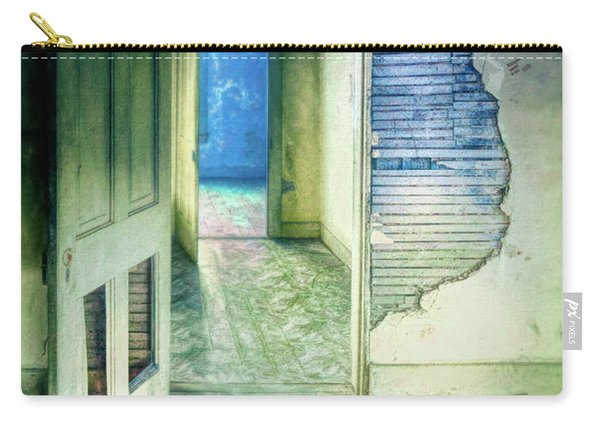Open Doors In Abandoned House Carry-all Pouch