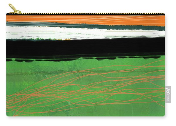 Orange And Green Abstract II Carry-all Pouch