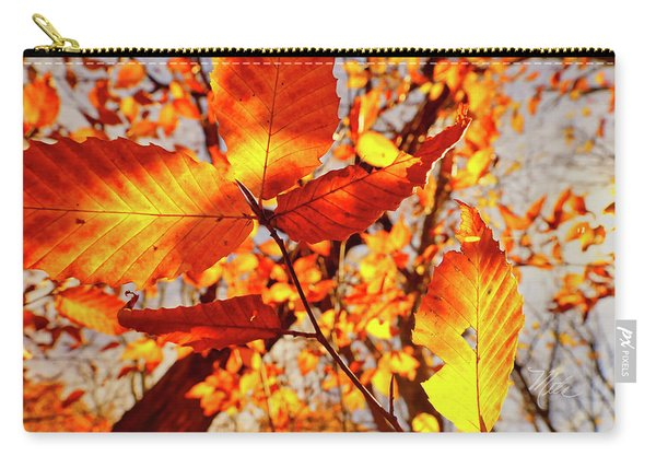 Orange Fall Leaves Carry-all Pouch