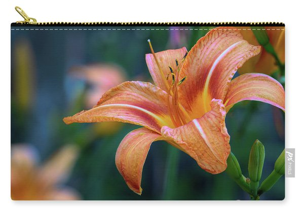 Orange Lily Detailed Petals Carry-all Pouch